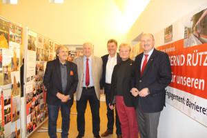 v.l.n.r. Volker Zahn, Werner Baur, Harald Schneider, Fritz Weber und Bernd Rützel