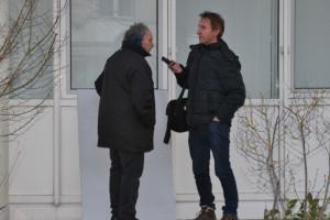 Volker gibt ein Interview