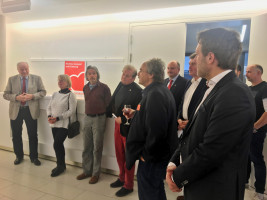 Volker Zahn stellt die Ausstellung vor