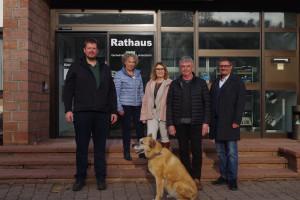 Die Leidersbacher SPD-Kandidaten v.l.n.r. Michael Lindner, Elisabeth Eulenstein, Andrea Bergmann, Gernot Pfuhl und Jörg Frieß