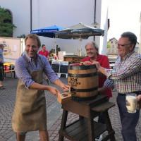 Eröffnunf der Sulzbacher Kerb durch den Bieranstich von BGM Martin Stock